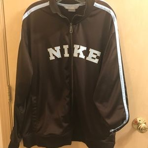 Nike warm-up jacket, Nike spell-out, brown